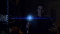 Teen Wolf Season 3 Episode 19 Letharia Vulpina Stiles with Ultrasonic emitter