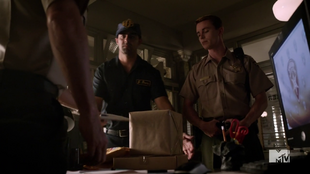 Teen Wolf Season 3 Episode 19 Letharia Vulpina Deputy Parrish and THE BOX