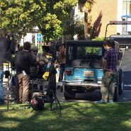 Teen-Wolf-Season-6-Behind-the-Scenes-Pacific-Pali-high-school-location-Holland-Roden-Stiles-Jeep
