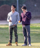 Teen Wolf Season 5 Behind the Scenes Tyler Posey and Dylan O'Brien Woodley Park 030315