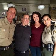 Teen Wolf Season 5 Behind the Scenes Benita Robledo Linden Ashby Melissa Ponzio Director Dave Daniel sheriff station set undated image