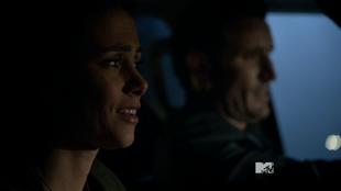 Teen Wolf Season 3 Episode 18 Riddled not so happy couple Melissa Ponzio