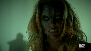 Teen Wolf Season 4 Episode 6 Orphaned Kate transformed at Argent Arms