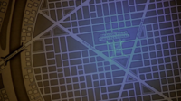 Teen Wolf Season 3 Episode 7 Currents Map close up features Bank, State Blvd Maybrook Street Northern Bridge