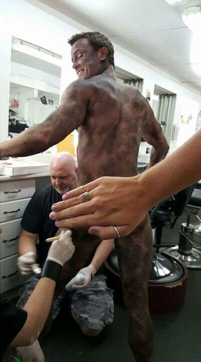 Teen Wolf Season 5 Behind the Scenes Ryan Kelley naked dirt makeup undated.jpg