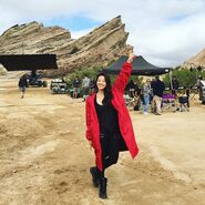 Teen Wolf Season 5 Behind the Scenes Arden Cho Vasquez Rocks peace 091615
