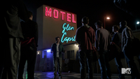 Teen Wolf Season 3 Episod 6 Motel California Orny Adams Coach Bobby Finstock and the team at Glen Capri