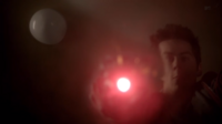 Teen Wolf Season 3 Episode 6 Motel California Dylan O'Brien Stiles with Road Flare under water