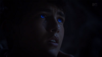 Teen Wolf Season 3 Episode 8 Visionary Ian Nelson Young Derek Hale Derek's eyes turn blue