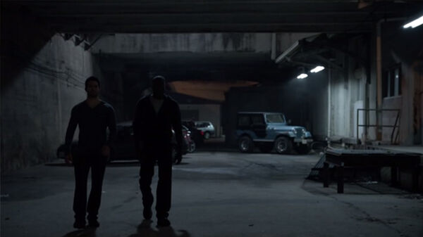 Teen Wolf Season 2 Episode 8 Raving Derek and Boyd outside the rave.jpg