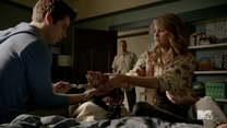 Teen Wolf Season 4 Episode 4 The Benefactor Stiles and Malia test chains