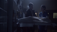 Teen Wolf Season 3 Episode 7 Currents Linden Ashby Melissa Ponzio Sheriff and Melissa McCall morgue