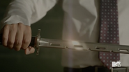 Teen Wolf Season 5 Episode 14 The Sword and the Spirit Ken with Kira's sword