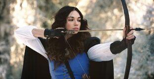 Teen Wolf Season 5 Behind the Scenes Crystal Reed as Marie Jeanne Valet