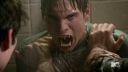 Teen Wolf Season 4 Episode 5 IED Liam angry shower