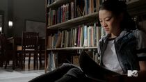 Teen Wolf Season 5 Episode 6 Required Reading Kira is trying to read the Book