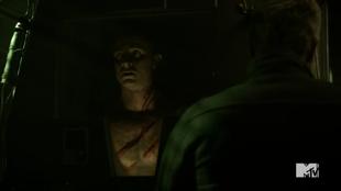 Teen Wolf Season 5 Episode 17 A Credible Threat Parrish in machine