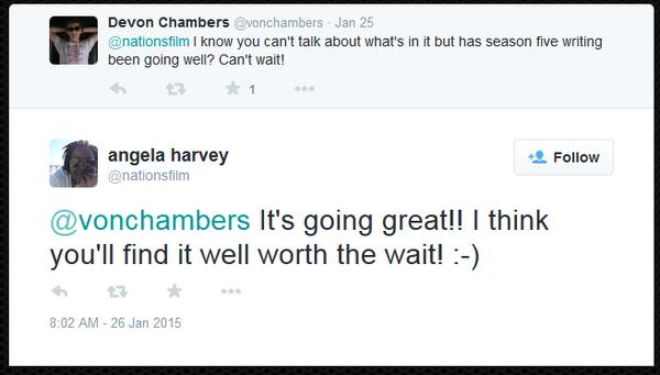 Teen Wolf News Angela Harvey scripts tweet 012715.png