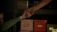 Teen Wolf Season 3 Episode 3 Fireflies Haley Webb Ms. Blake takes Derek's hand