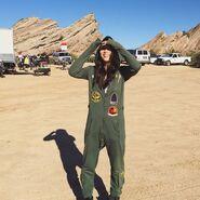 Teen Wolf Season 5 Behind the Scenes Arden Cho Vasquez Rocks jumpsuit 091615