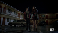 Teen Wolf Season 3 Episode 6 Motel California Dylan O'Brien Holland Roden Stiles and Lydia Baby Crying