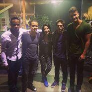 Teen Wolf Season 5 Behind the Scenes Khylin Rhambo Eddie Ramos Arden Cho Dylan Sprayberry Cody Saintgnue undated image