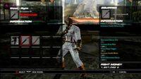 Tekken 6 Character Customization Menu