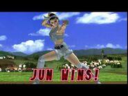 Tekken 2 - Jun Kazama (Win Poses)