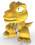 Gon - Full-body CG Art Image - Tekken 3
