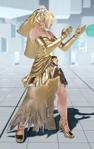 Nina abito metallico
