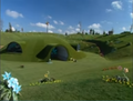Concept art of Teletubbyland by Ron Dias
