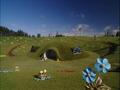 Concept art of Teletubbyland of Walt Disney Animation Australia
