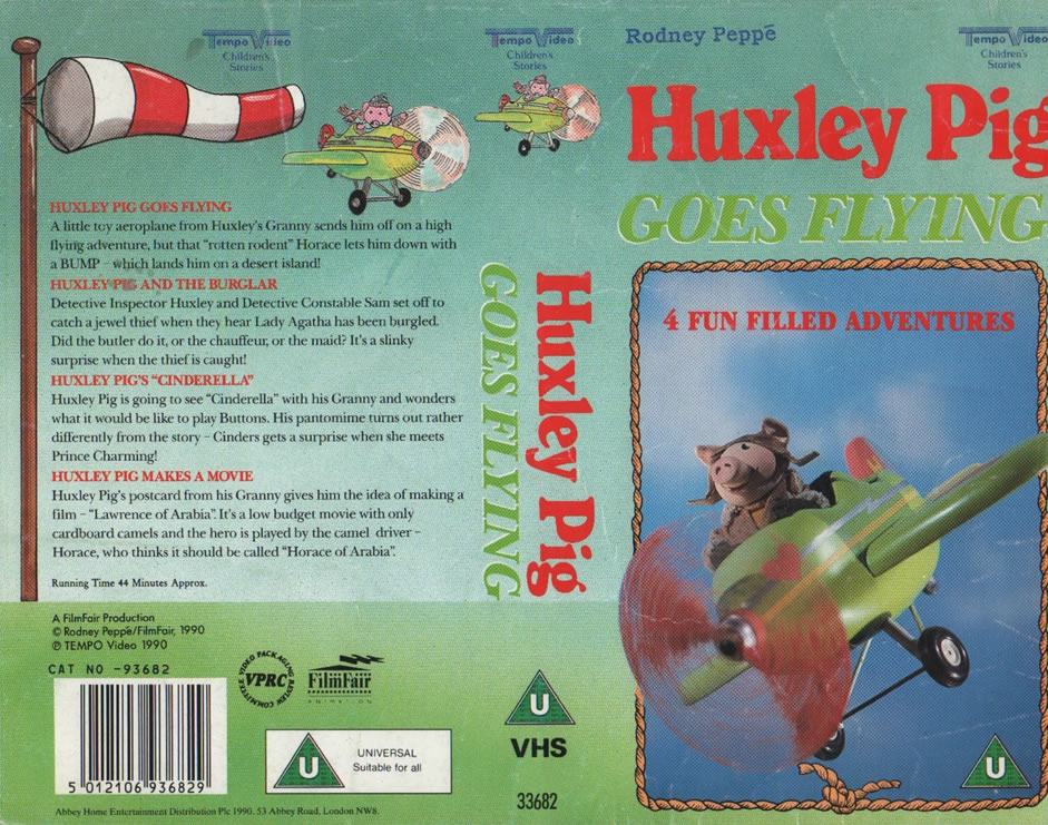 Huxley Pig Goes Flying