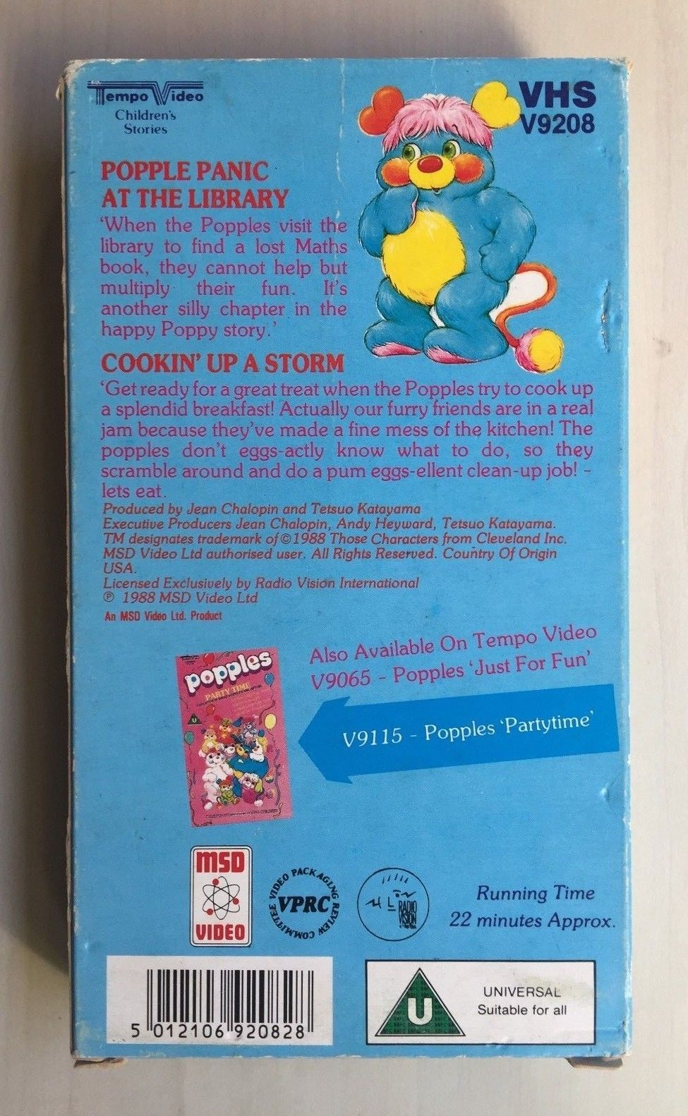 Popples - Popple Panic at the Library and Cookin' Up a Storm