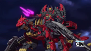 Vilius riding the Evil Tenkai Dragon