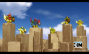 Beag and pheonix tenkai knights making an anouncement
