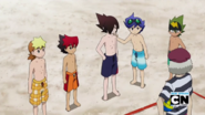 Guren, gen, ceylan, toxsa, chooki and mr. white at the beach