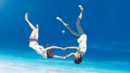 Hina and Hodaka fall from the sky