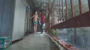 Hodaka goes to Hina's house