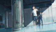 Hodaka escapes the police station