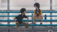Nagi gives Hodaka advice