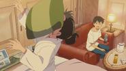 Nagi throws a pillow at Hina