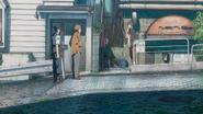 Yasui asks Keisuke where Hodaka is