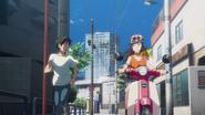 Natsumi offers Hodaka a ride