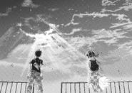Hina clears the sky for Hodaka