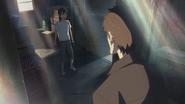 Hodaka runs into Keisuke
