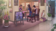 Natsumi and Hodaka see a fortune teller