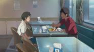 Hodaka's thank-you to Keisuke