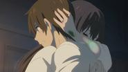 Hina hugs Hodaka