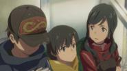 Hina, Nagi and Hodaka run away